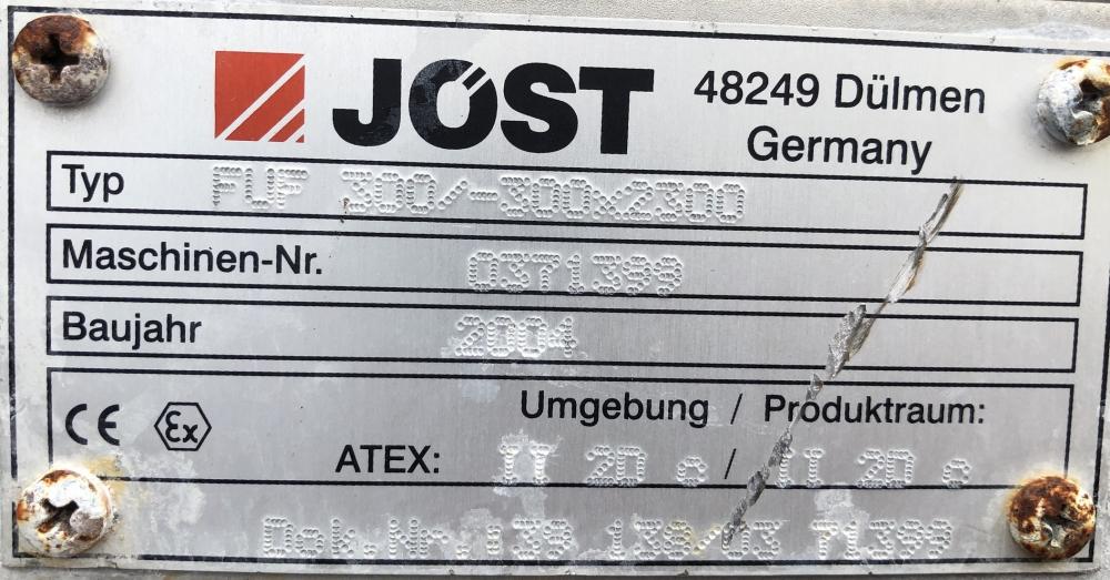 Schwingförderrinne - Jöst FUF 300/-300x2300