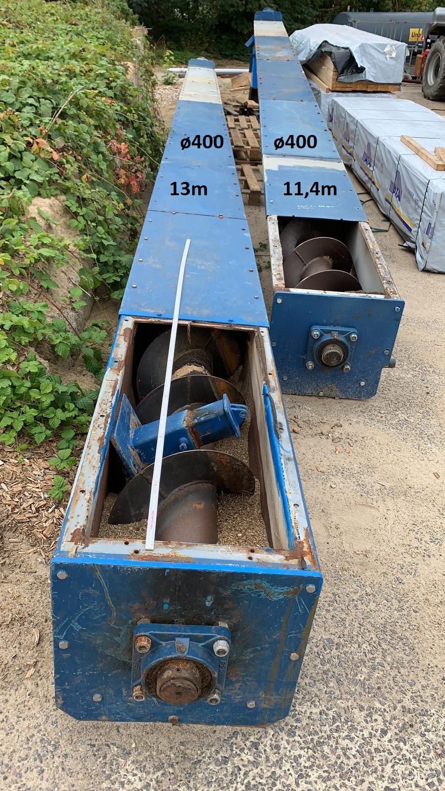 Trogförderschnecke DN 400 x 11.400 mm